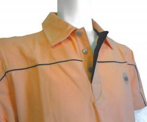 No.6 ポロシャツ サーモンピンク ゴルフ メンズ エンポリオアルマーニ EA7