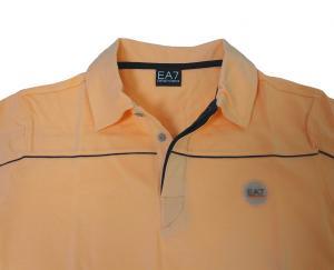 No.7 ポロシャツ サーモンピンク ゴルフ メンズ エンポリオアルマーニ EA7
