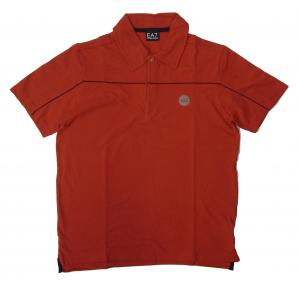 エンポリオアルマーニ ポロシャツ レッド ゴルフ メンズ XLサイズ  EA7