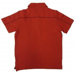No.2 ポロシャツ レッド ゴルフ メンズ XLサイズ エンポリオアルマーニ EA7