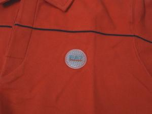 No.3 ポロシャツ レッド ゴルフ メンズ XLサイズ エンポリオアルマーニ EA7