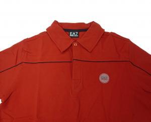 No.4 ポロシャツ レッド ゴルフ メンズ XLサイズ エンポリオアルマーニ EA7