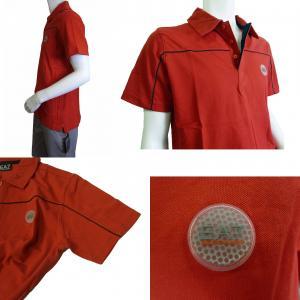 No.5 ポロシャツ レッド ゴルフ メンズ XLサイズ エンポリオアルマーニ EA7