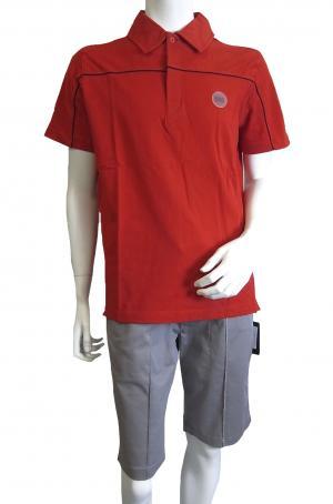 エンポリオアルマーニ <訳ありお値引>ポロシャツ レッド ゴルフ メンズ  EA7