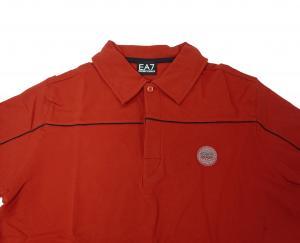 No.7 <訳ありお値引>ポロシャツ レッド ゴルフ メンズ エンポリオアルマーニ EA7