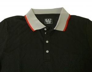 No.10 ポロシャツ ブラック ゴルフ メンズ XLサイズ エンポリオアルマーニ EA7
