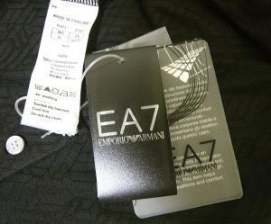 No.9 ポロシャツ ブラック ゴルフ メンズ XLサイズ エンポリオアルマーニ EA7