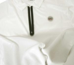 No.5 ポロシャツ 速乾素材 ゴルフ用 ホワイト EA7