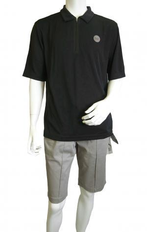 No.8 ポロシャツ 速乾素材 ゴルフ用 EA7 (ミッドナイト) XLサイズ