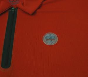 No.3 ポロシャツ 速乾素材 (レッド) Mサイズ ゴルフ用 EA7
