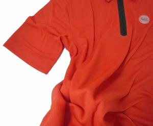 No.6 ポロシャツ 速乾素材 (レッド) Mサイズ ゴルフ用 EA7