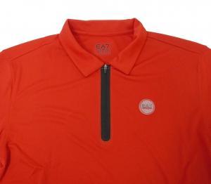 No.7 ポロシャツ 速乾素材 (レッド) Mサイズ ゴルフ用 EA7