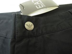 No.2 ゴルフ用 バミューダ パンツ 薄いブラック エンポリオアルマーニ EA7 Sサイズ