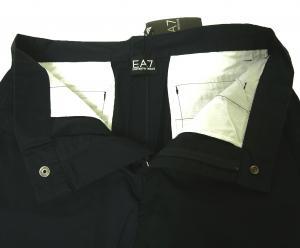 No.3 ゴルフ用 バミューダ パンツ 薄いブラック エンポリオアルマーニ EA7 Sサイズ