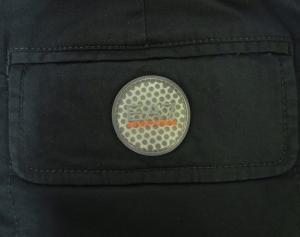 No.8 ゴルフ用 バミューダ パンツ 薄いブラック エンポリオアルマーニ EA7 Sサイズ