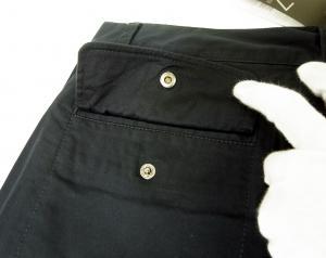 No.9 ゴルフ用 バミューダ パンツ 薄いブラック エンポリオアルマーニ EA7 Sサイズ