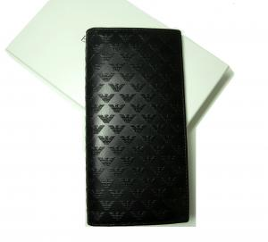 アルマーニ 長財布 エンポリオアルマーニ 二つ折 (ブラック)