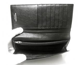 No.5 エンポリオアルマーニ 二つ折長財布(ブラック/ブラック)
