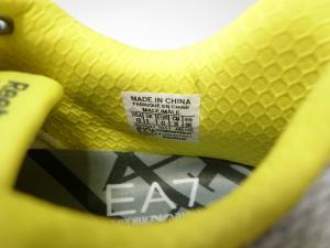 No.4 スニーカー メンズ ライトグレー×イエロー EA7×リーボック