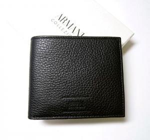 アルマーニコレツォーニ  財布 メンズ 二つ折 (ブラック)