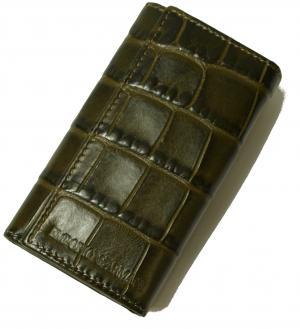 No.6 キーケース グリーン 6連 メンズ クロコ型押しレザー エンポリオアルマーニ