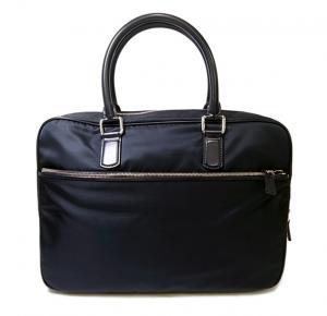 ジョルジオアルマーニ ブリーフケース ビジネスバッグ ダークブルー メンズ