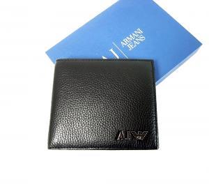 アルマーニ ジーンズ メンズ 財布 二つ折(ブラック) MainPhoto