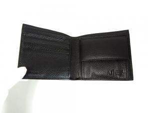 No.4 ジーンズ メンズ 財布 二つ折(ブラック)