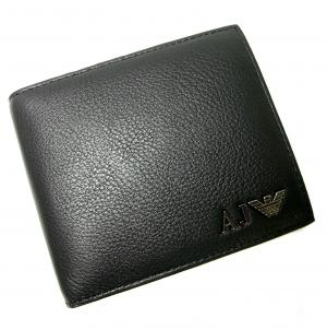 No.9 ジーンズ メンズ 財布 二つ折(ブラック)