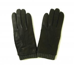 アルマーニジーンズ  ディアスキン レザー グローブ 手袋 Mサイズ