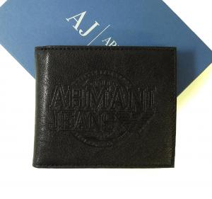 アルマーニジーンズ  財布 二つ折(ブラック)