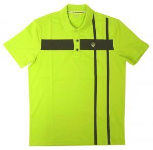 エンポリオアルマーニ ポロシャツ ネオングリーン ゴルフ メンズ  EA7