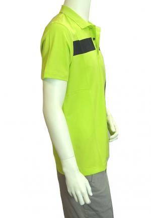 No.6 ポロシャツ ネオングリーン ゴルフ メンズ エンポリオアルマーニ EA7