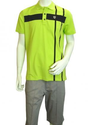 No.8 ポロシャツ ネオングリーン ゴルフ メンズ エンポリオアルマーニ EA7