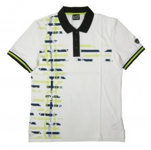 エンポリオアルマーニ ポロシャツ ホワイト ゴルフ メンズ Lサイズ  EA7