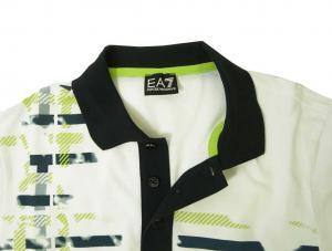 No.5 ポロシャツ ホワイト ゴルフ メンズ Lサイズ エンポリオアルマーニ EA7