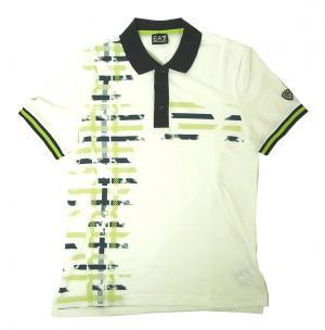 No.8 ポロシャツ ホワイト ゴルフ メンズ Lサイズ エンポリオアルマーニ EA7