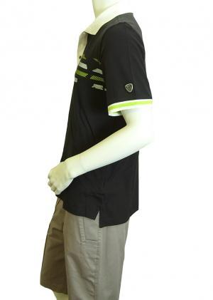 No.3 ポロシャツ ダークスレート ゴルフ メンズ Sサイズ エンポリオアルマーニ EA7