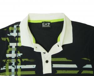 No.7 ポロシャツ ダークスレート ゴルフ メンズ Sサイズ エンポリオアルマーニ EA7