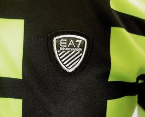 No.2 ポロシャツ ネオングリーン メンズ ゴルフ Sサイズ エンポリオアルマーニ EA7
