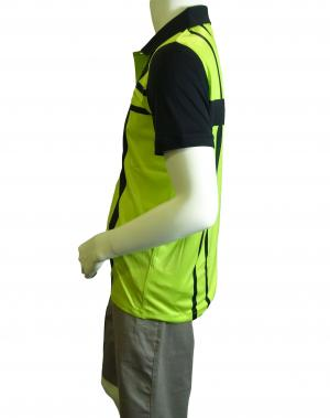 No.4 ポロシャツ ネオングリーン メンズ ゴルフ Sサイズ エンポリオアルマーニ EA7