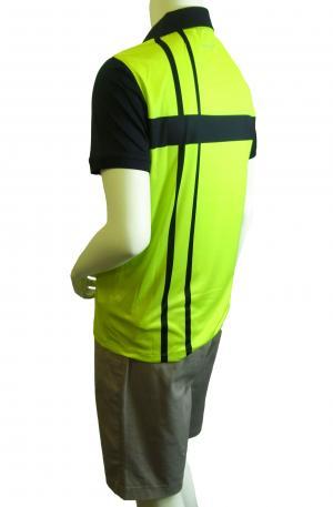 No.5 ポロシャツ ネオングリーン メンズ ゴルフ Sサイズ エンポリオアルマーニ EA7