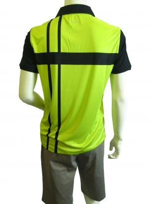 No.7 ポロシャツ ネオングリーン メンズ ゴルフ Sサイズ エンポリオアルマーニ EA7