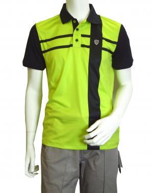 No.9 ポロシャツ ネオングリーン メンズ ゴルフ Sサイズ エンポリオアルマーニ EA7