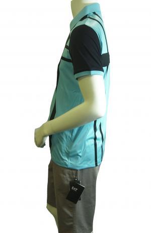 No.2 ポロシャツ ライトブルー ゴルフ メンズ Mサイズ エンポリオアルマーニ EA7