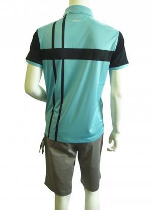 No.3 ポロシャツ ライトブルー ゴルフ メンズ Mサイズ エンポリオアルマーニ EA7