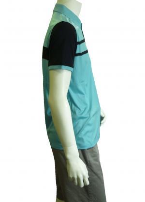 No.5 ポロシャツ ライトブルー ゴルフ メンズ Mサイズ エンポリオアルマーニ EA7