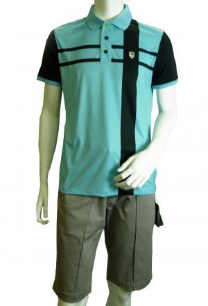 No.7 ポロシャツ ライトブルー ゴルフ メンズ Mサイズ エンポリオアルマーニ EA7