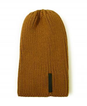 エンポリオアルマーニ ニットキャップ 帽子  Mサイズ(ライトブラウン)