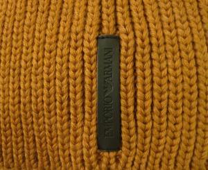 No.2 ニットキャップ 帽子 エンポリオアルマーニ Mサイズ(ライトブラウン)